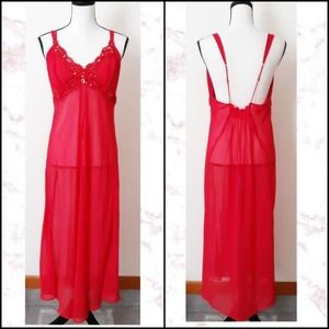 Beaded Long Nightgown